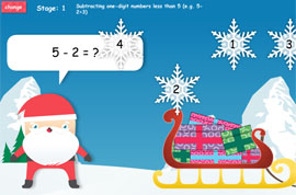 Twelve Games of Christmas - Snowflake Subtraction
